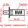 Shutter repair pin